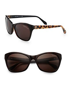 Roberto Cavalli - Classic Cat's-Eye Leopard Sunglasses