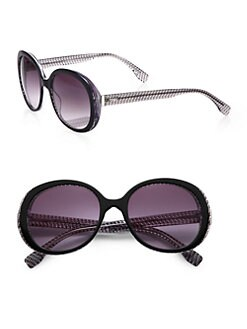 Fendi - MicroLogo Oversized Round Acetate Sunglasses