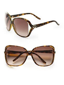 Gucci - Glam Rectangular Plastic Sunglasses