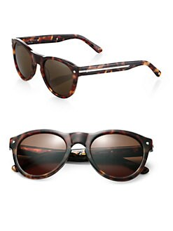 Rag & Bone - The Keaton Round Sunglasses/Tortoise Print