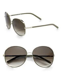 Chloe - Nerine Round Aviator Sunglasses