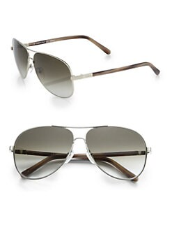 Chloe - Acanthe Metal Aviator Sunglasses