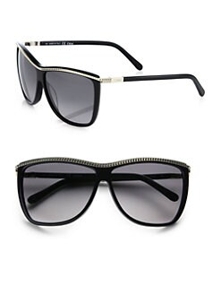 Chloe - Acanthe Zipper Square Sunglasses