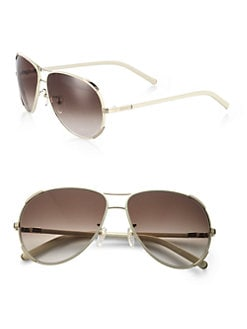 Chloe - Oversized Aviator Sunglasses