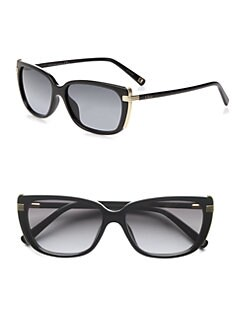 Dior - Metal Accented Square Plastic Sunglasses