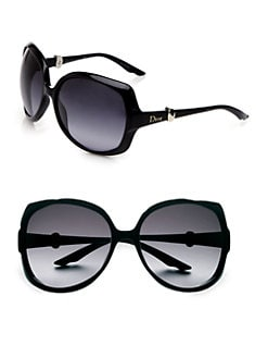 Dior - Metal Accented Over-Sized Sunglasses