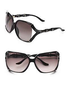 Gucci - Metal Accented Bamboo-Styled Square Sunglasses