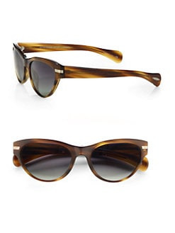 Oliver Peoples - Kosslyn Cat's-Eye Plastic Sunglasses/Brown