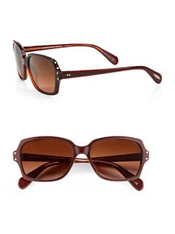 Oliver Peoples - Nanny B. Rectangular Plastic Sunglasses