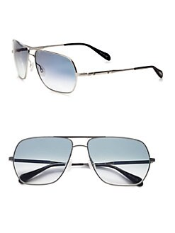 Oliver Peoples - Kelton Rectangular Aviator Sunglasses