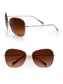 Oliver Peoples - Elsie Oversized Metal Sunglasses