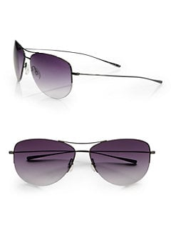 Oliver Peoples - Strummer Semi-Rimless Aviator Sunglasses