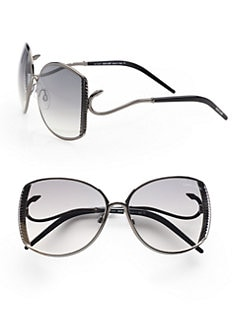 Roberto Cavalli - Amaranto Ridged Metal Sunglasses/Gunmetal