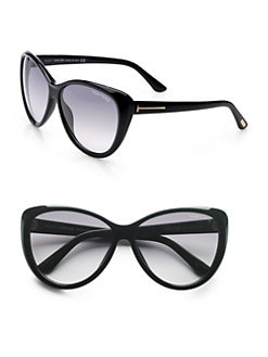 Tom Ford Eyewear - Malin Beveled Plastic Sunglasses/Black