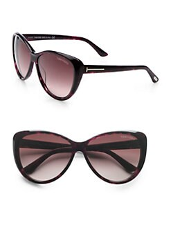 Tom Ford Eyewear - Malin Beveled Plastic Sunglasses/Violet