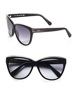 Tod's - Metal Rim Classic Sunglasses/Black