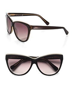 Tod's - Metal Rim Classic Cat's-Eye Sunglasses/Tobacco
