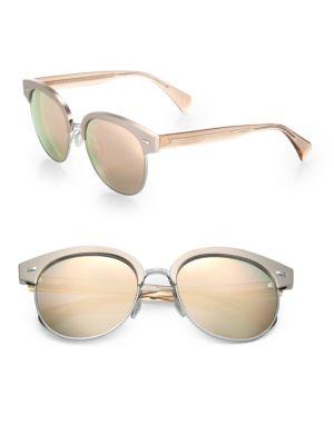 Shaelie 55MM Round Sunglasses