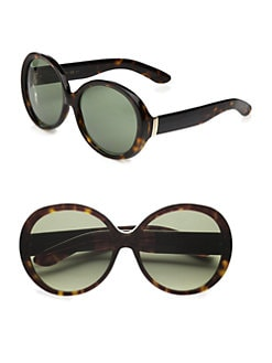 Saint Laurent - Over-sized Round Plastic Sunglasses