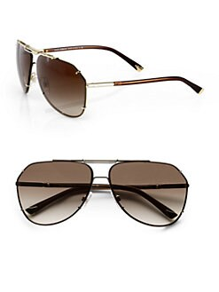 Dolce & Gabbana - Rimless Metal Aviator Sunglasses