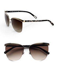 Dolce & Gabbana - Metal Accented Rimless Sunglasses