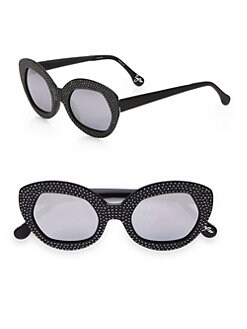 Elizabeth and James - Crystal Studded Taylor Plastic Cateye Sunglasses