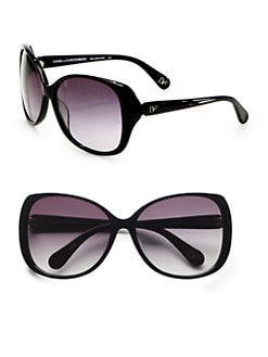 Diane von Furstenberg - Kelli Modern Plastic Square Sunglasses