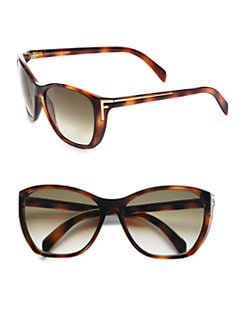 Fendi - Logo Accented Plastic Cat's-Eye Sunglasses