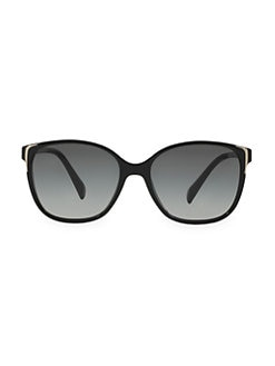 Prada - Metal Accented Square Plastic Sunglasses
