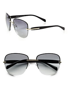 Prada - Square Rimless Sunglasses