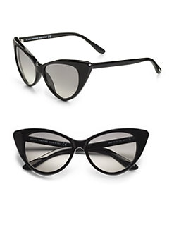 Tom Ford Eyewear - Nikita 55mm Cat's-Eye Sunglasses/Black