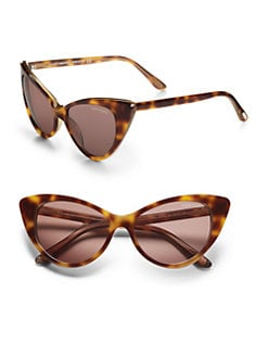 Tom Ford Eyewear - Nikita 55mm Cat's-Eye Sunglasses/Havana