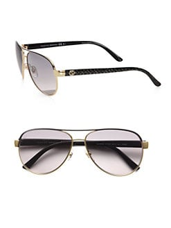 Gucci - Metal Aviator Glitter Sunglasses