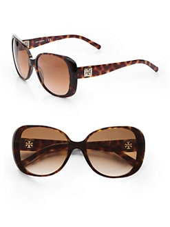 Tory Burch - Full Rim Round Sunglasses