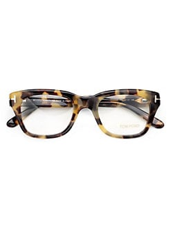 Tom Ford Eyewear - Full Rim Square Wayfarer-Inspired Plastic Eyeglasses