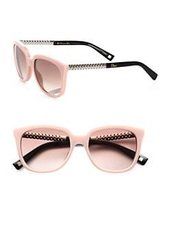 Dior - Braided Oversized Square Acetate Sunglasses