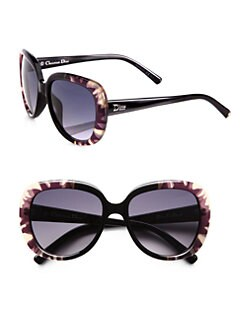 Dior - Oversized Round Floral Sunglasses