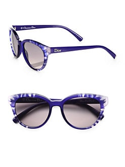 Dior - Floral-Accented Oval Optyl Sunglasses