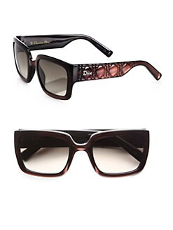 Dior - Texture-Accented Rectangular Optyl Sunglasses
