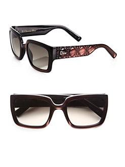 Dior - Texture-Accented Rectangular Optyl Sunglasses