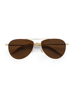 Oliver Peoples - Benedict Metal Aviator Sunglasses