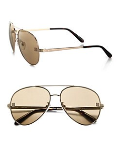 Givenchy - Metal Flash Lens Aviator Sunglasses