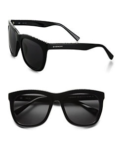 Givenchy - Swarovski Crystal Studded Square Sunglasses