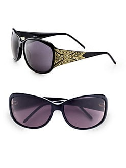 Givenchy - Swarvoski Crystal Accented Wrap Sunglasses
