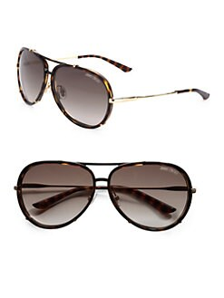 Jimmy Choo - Terrence Plastic & Stainless Steel Aviator Sunglasses