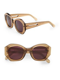 Karen Walker - Retro-Inspired Full Rim Sunglasses/Tea Brown