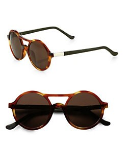 The Row - Round Tortoiseshell Acetate Sunglasses