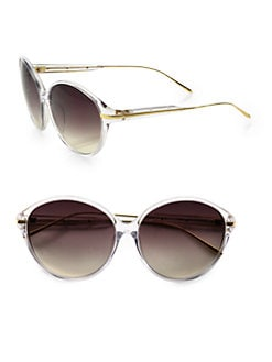 Linda Farrow Luxe - Round Acetate Sunglasses