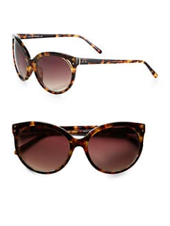 Linda Farrow Luxe - Oversized Cat's-Eye Sunglasses