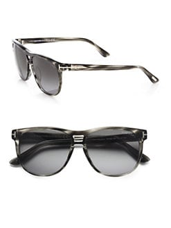 Tom Ford Eyewear - Lennon Acetate Oval Sunglasses/Grey
